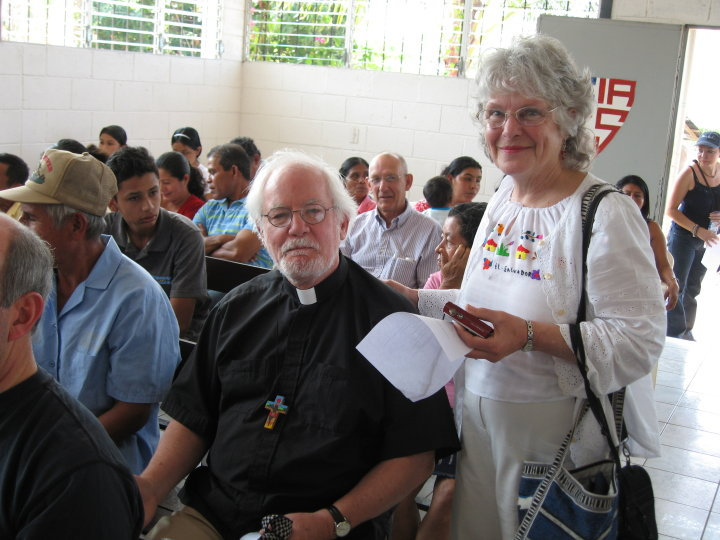 The Very Reverend Richard Bower and Stephanie Bower at the Cristosal's 10th Anniversary Celebration