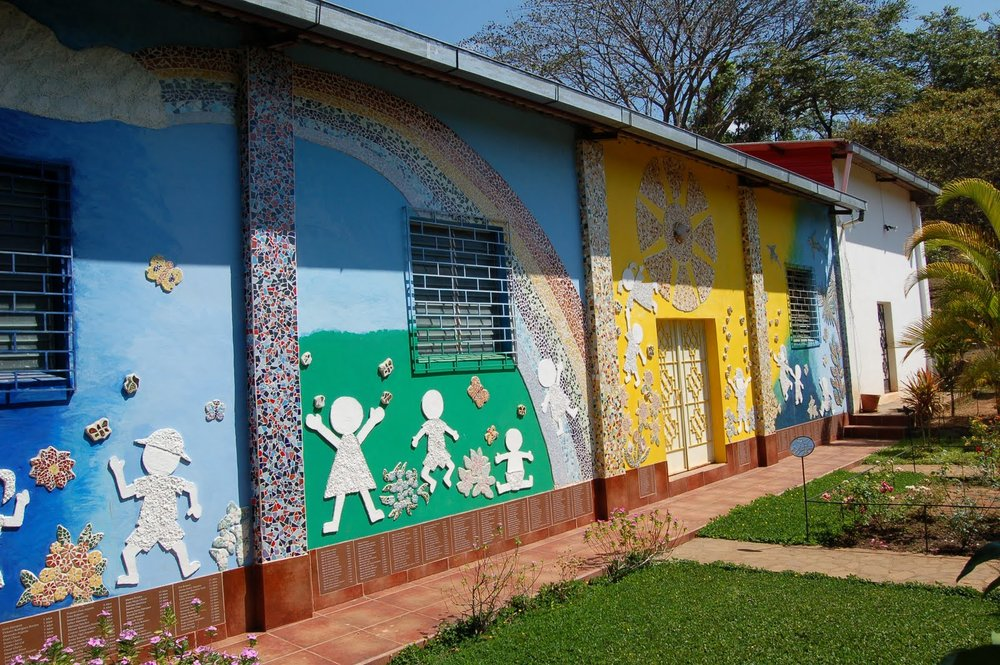 The Children's Garden in El Mozote today, erected over the site where hundreds of children were murdered.