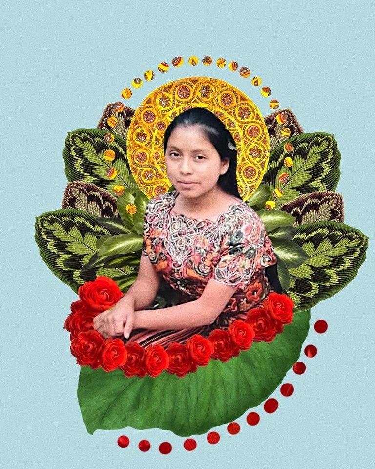 Arte en memoria a Claudia Gómez por parte del artista y fotógrafo Rubén Guadalupe Márquez