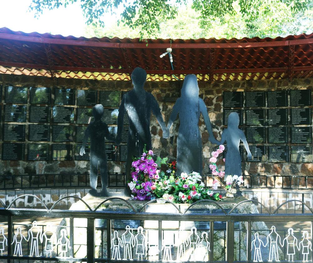 The 1981 El Mozote massacre memorial in El Mozote, Morazán, El Salvador. / Photo Cristosal