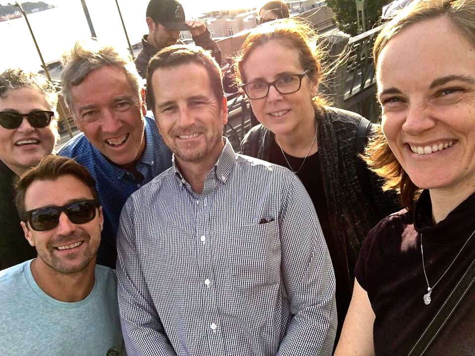 Noah Bullock and some of the Cristosal Board explore Seattle, from left, Kathy Veit, Roger Jones, Scott Pentzer, Diane Paulsell, and the Rev. Amy Denney Zuniga