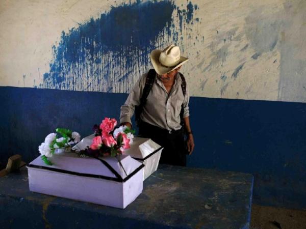 Children's coffins in El Mozote.