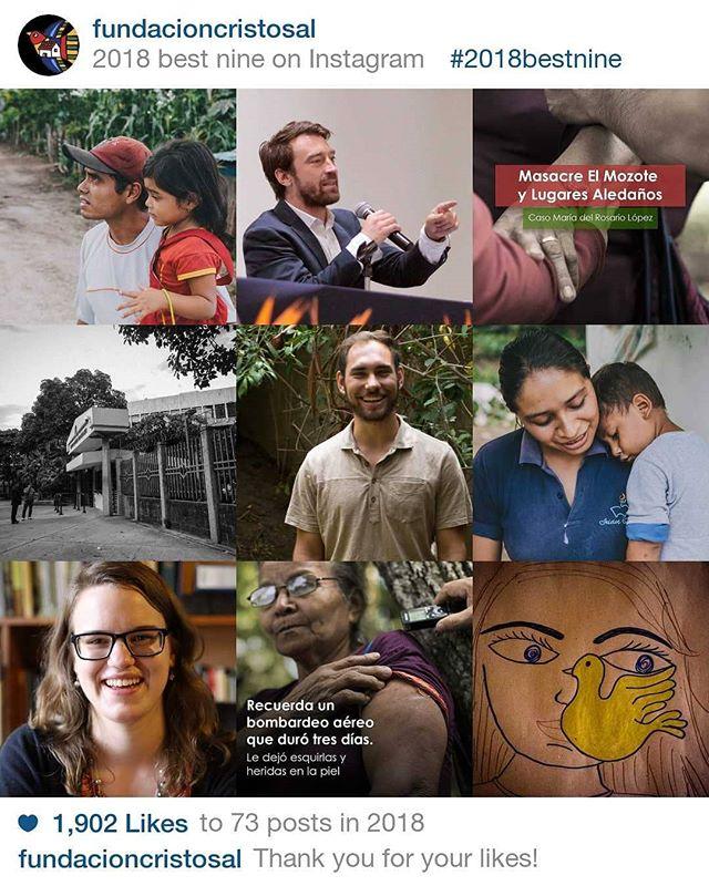 El 2018 fue un año clave para Cristosal. Agradecemos todo el apoyo que hemos recibido. Para el 2019 esperamos seguir luchando por la justicia y dignidad en Centroamérica. #best9 #top9 #derechoshumanos #ElMozote #desplazamientoForzado #ElSalvador #Honduras #Guatemala