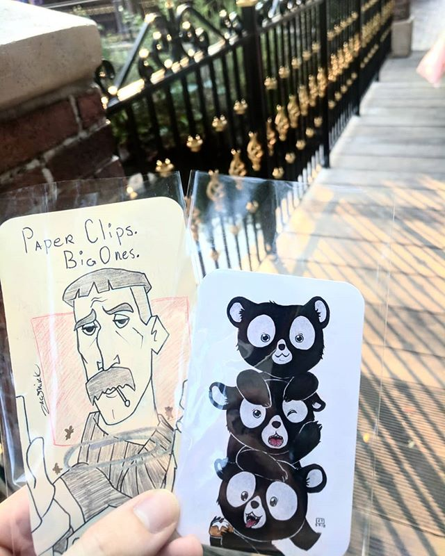 Paper clips. Big ones. Ya know office supplies.  Back to doin art drops on the weekends! ••••• (( #artdrop #disneyland #atlantis #vinny #brave #pixar #atlantisthelostempire #drawing #art #illustration #atlantisvinny ))