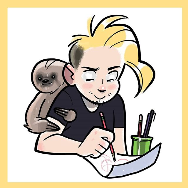 New profile who dis? Oh it's @levitzo back at it again supplying me with the highest quality commissions 🙏 he did the art so go follow him in all of his mustached glory! Thanks Bubitzo! ••••• (( #levitzo #art #illustration #drawing #caricature #sloth #artist #commission ))