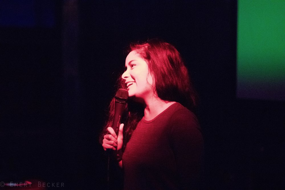 Christine Medrano at a ROVE show at The Reserve, Summer 2016. Photo by Emery Becker.