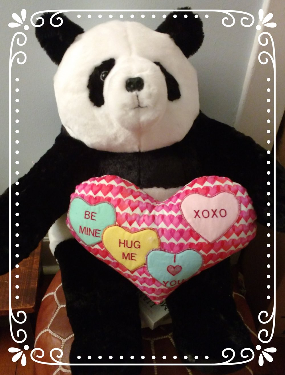 For anyone looking for a last minute Valentine's gift--this sweet panda is also at the salon.  He is the softest stuffed panda you have ever hugged.  I dare you to stop by and see! :)