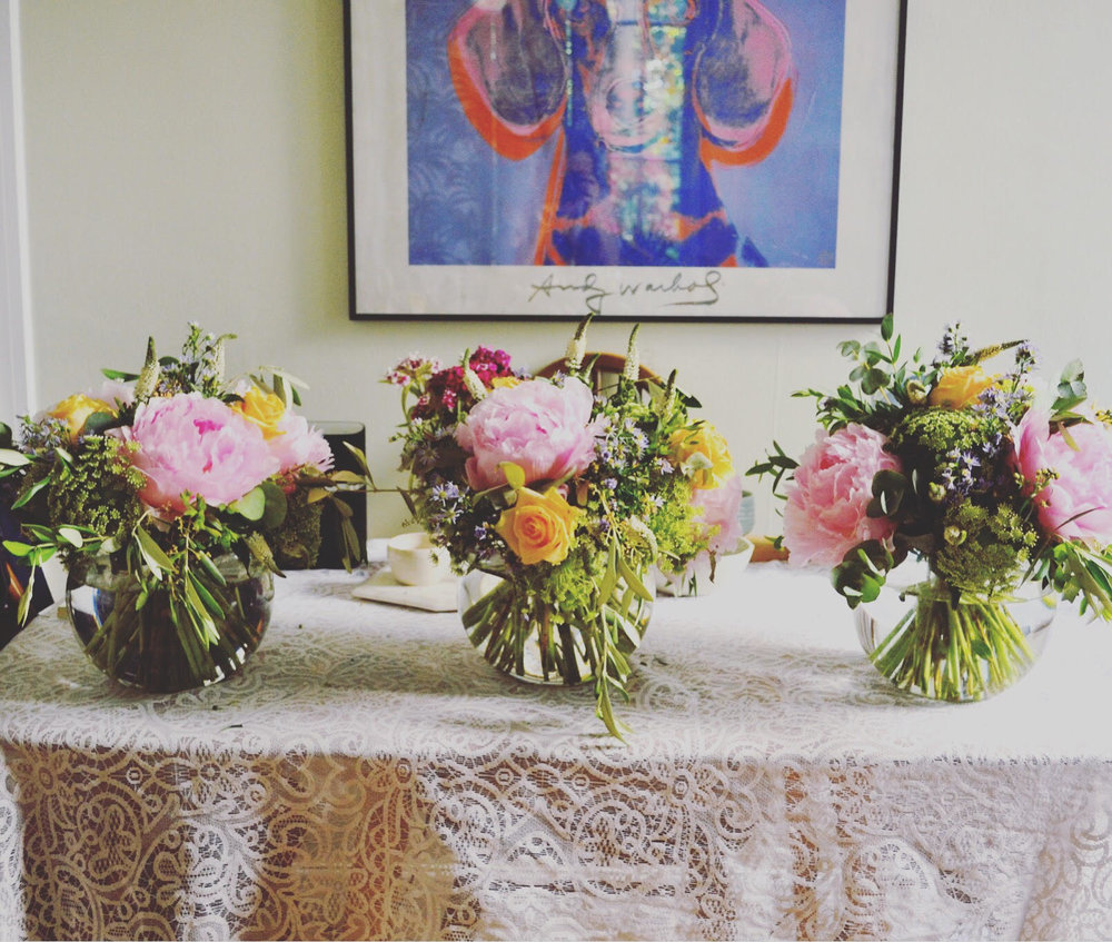 london florist, peonies