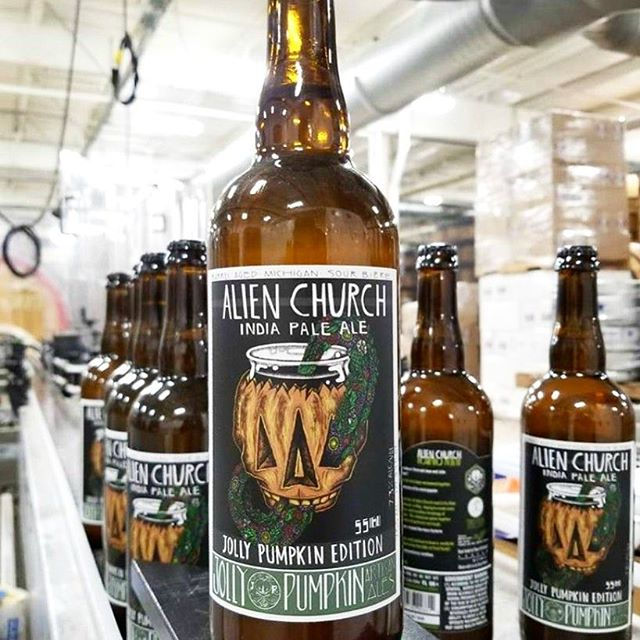 "Ultra rare beer alert! 🍻@tiredhandsbrewing & @jollypumpkin collab ""Alien Church"" a funky sour hazy IPA. Only 36 bottles exist in Georgia and we have 12 of them!"