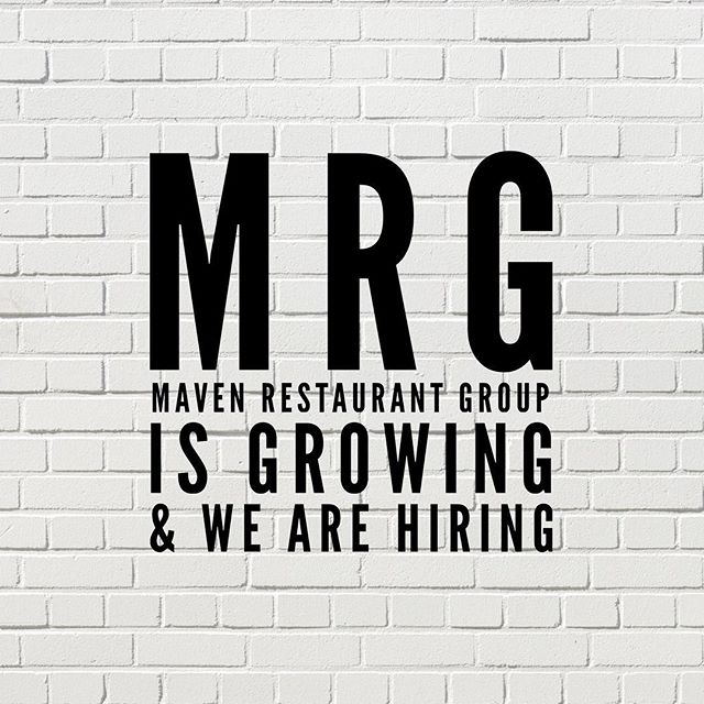We are hiring now for @lapeeratl FOH Managers.  If you are interested  please email your resume to jobs@mavenrestaurantgroup.com
