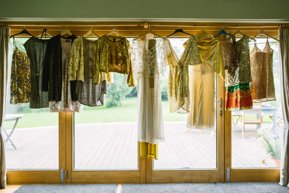 Gold wedding theme outfits UK wedding photographer Olivia Moon Photography