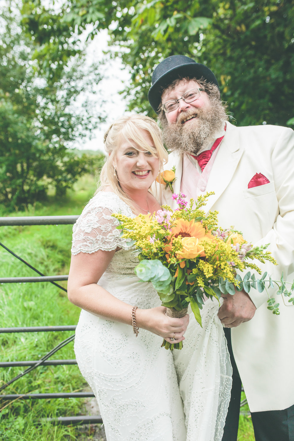 Father and the bride, Shropshire festival wedding