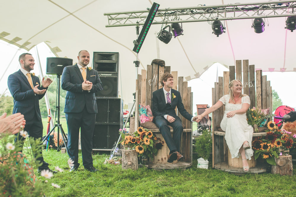 Festival wedding ceremony, Shropshire