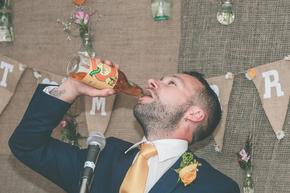 Best man's speech, Cider Farm wedding