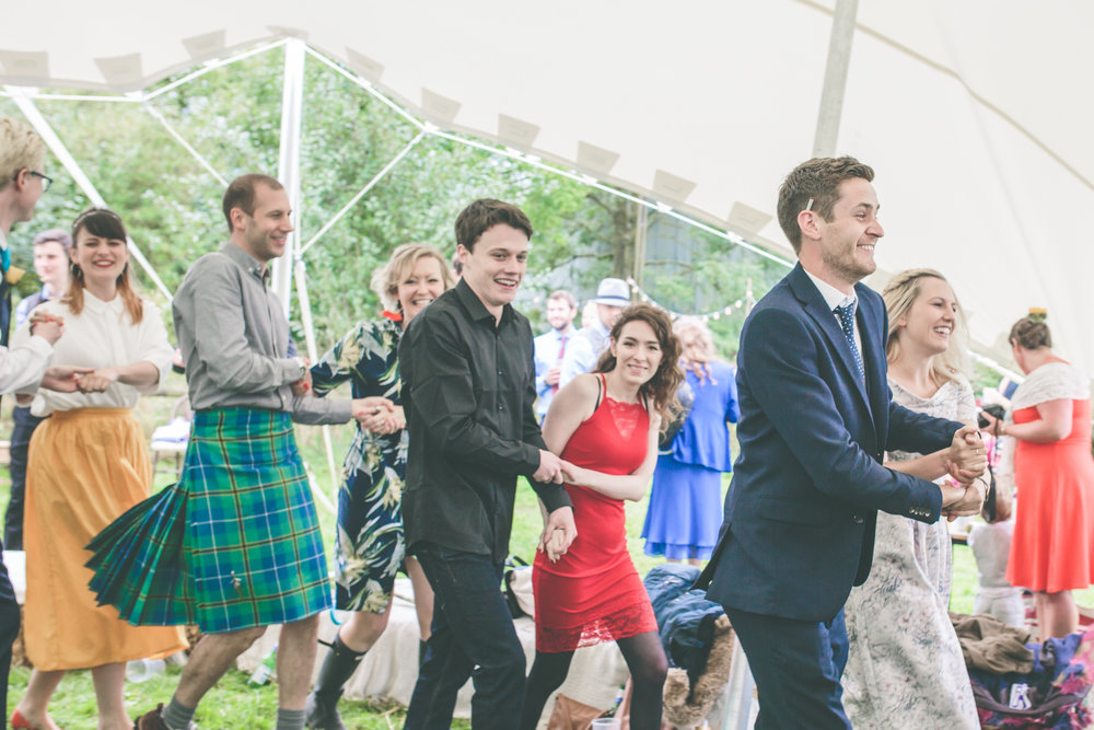 Energetic ceilidh, folk wedding