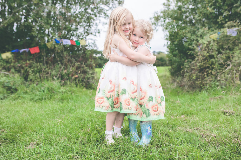 Cute festival Bridesmaids, rural wedding