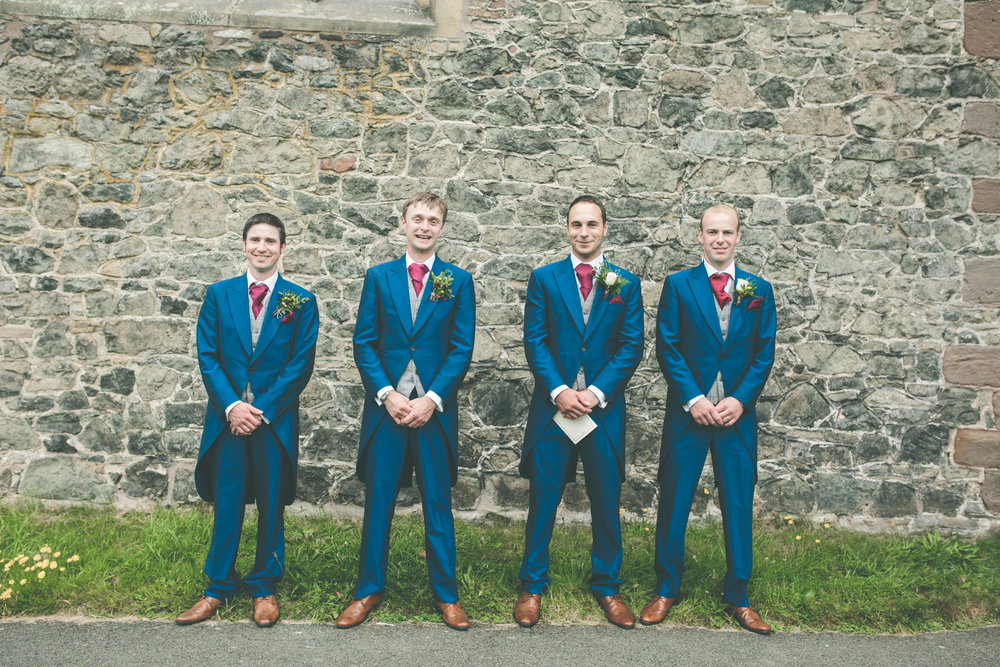 Groom and groomsmen, Montgomery church wedding photography