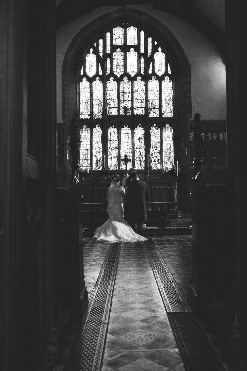 Bride and Groom blessing, Montgomery Church wedding