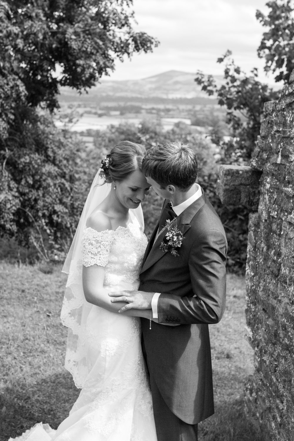 Bride and Groom, Welsh wedding photographer