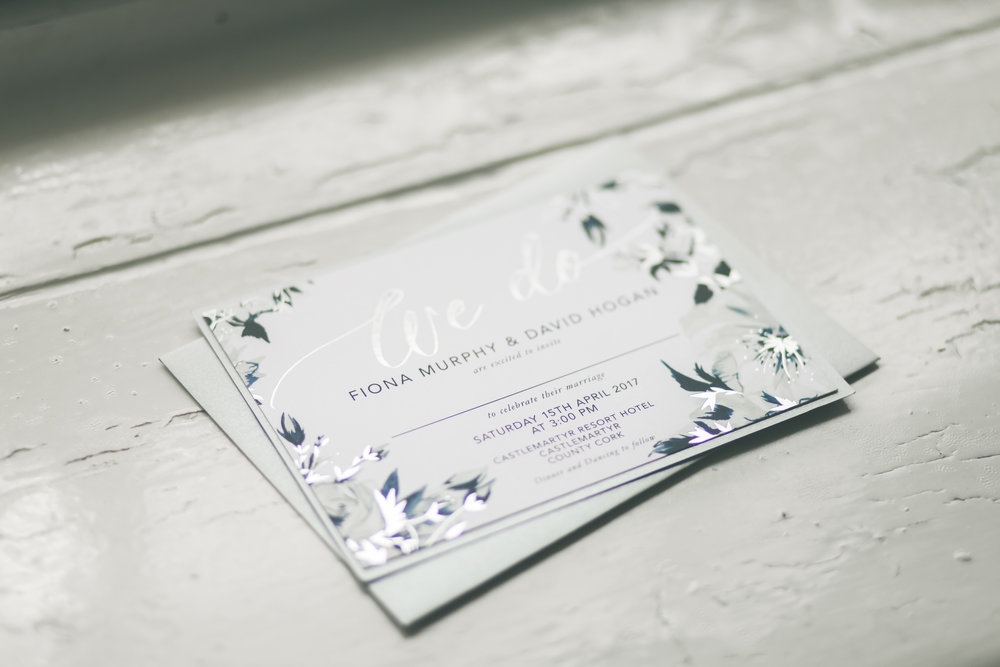 County Cork wedding photography invitation