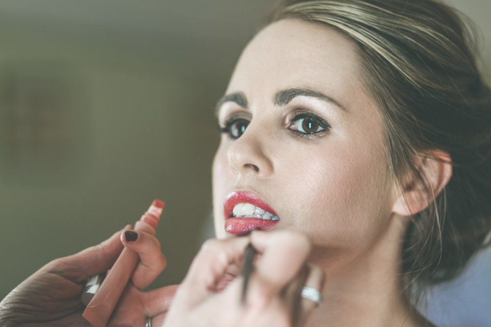 Bridal makeup, castlemartyr wedding photography
