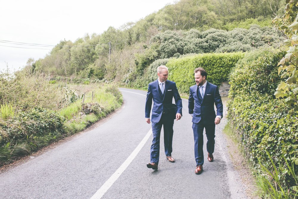 Ireland wedding photography - Groom and Best Man