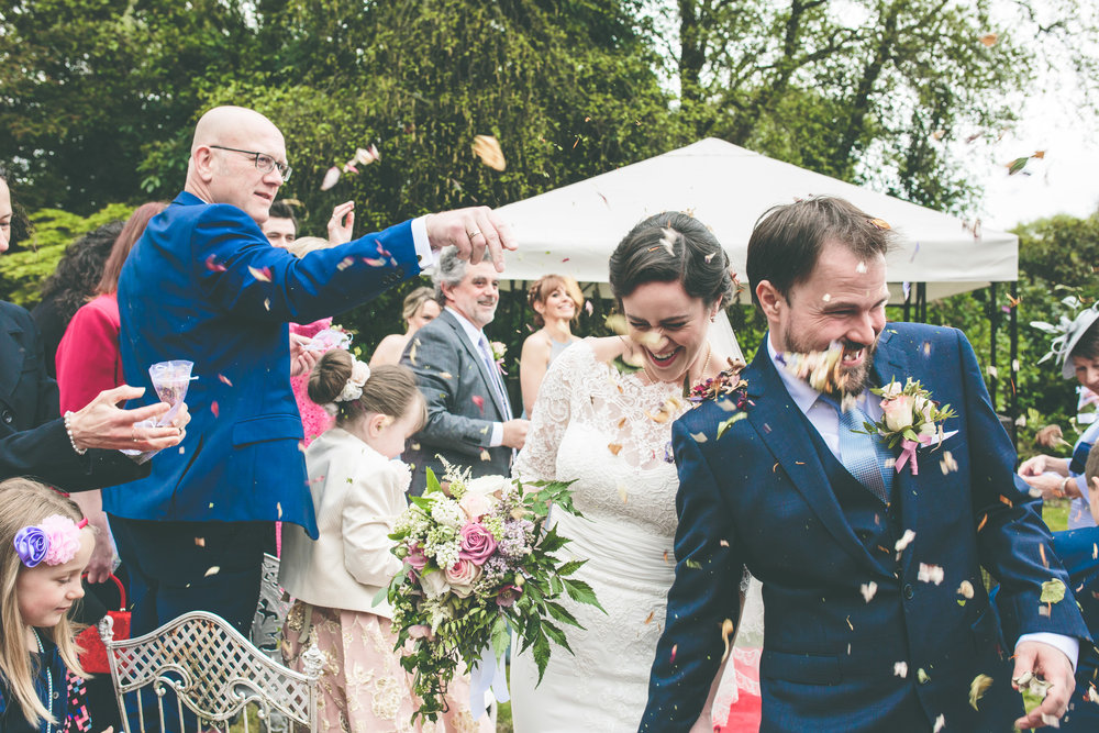 Cashel House Hotel wedding photography - Confetti Shot