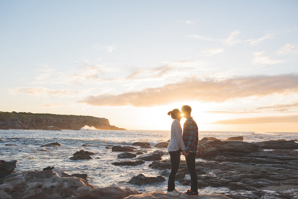 Typhaine & Emlyn's sunrise engagement shoot in Sydney, Australia