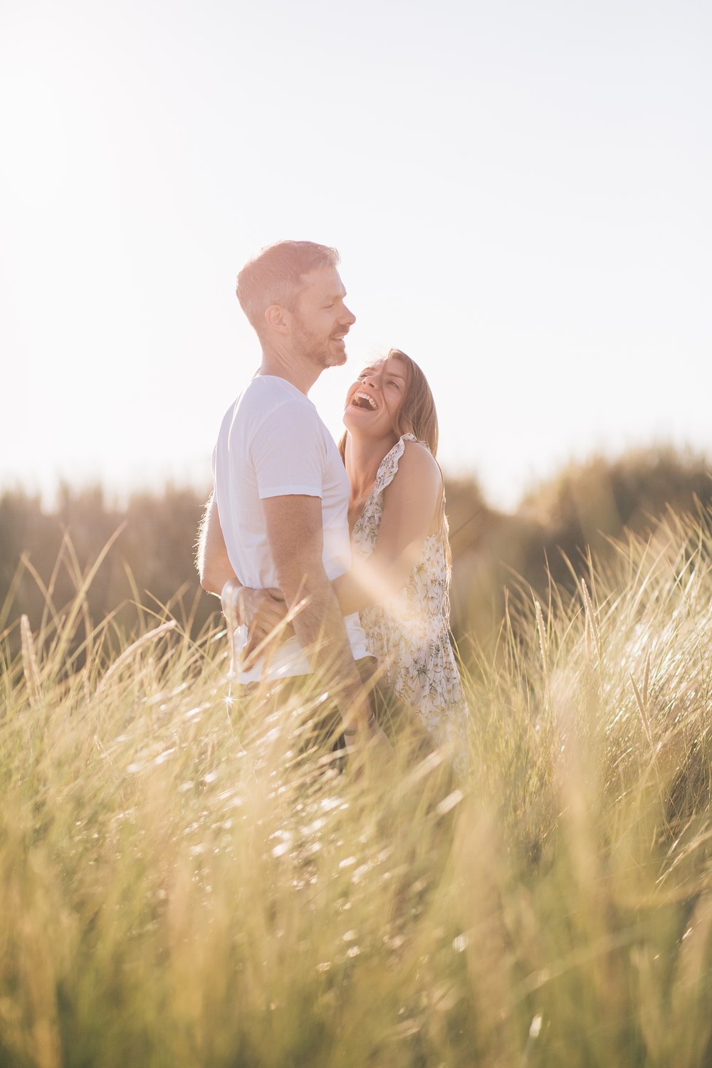 Golden Hour photography engagement shoot