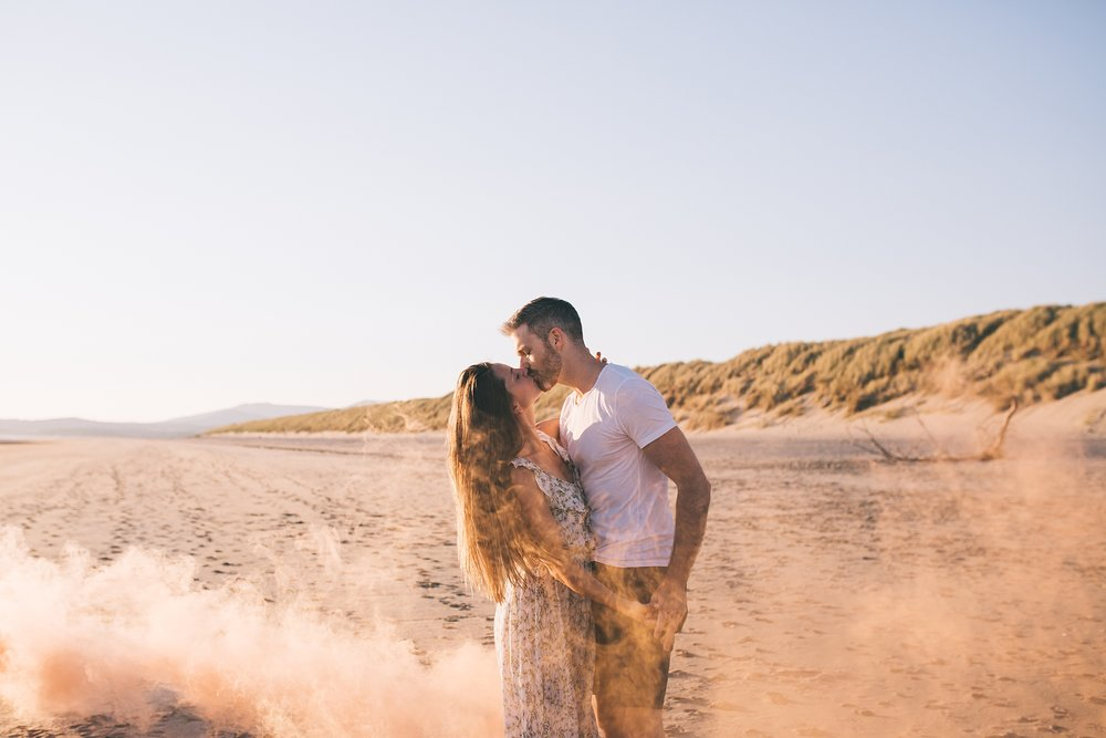 Smoke bomb wedding photographer