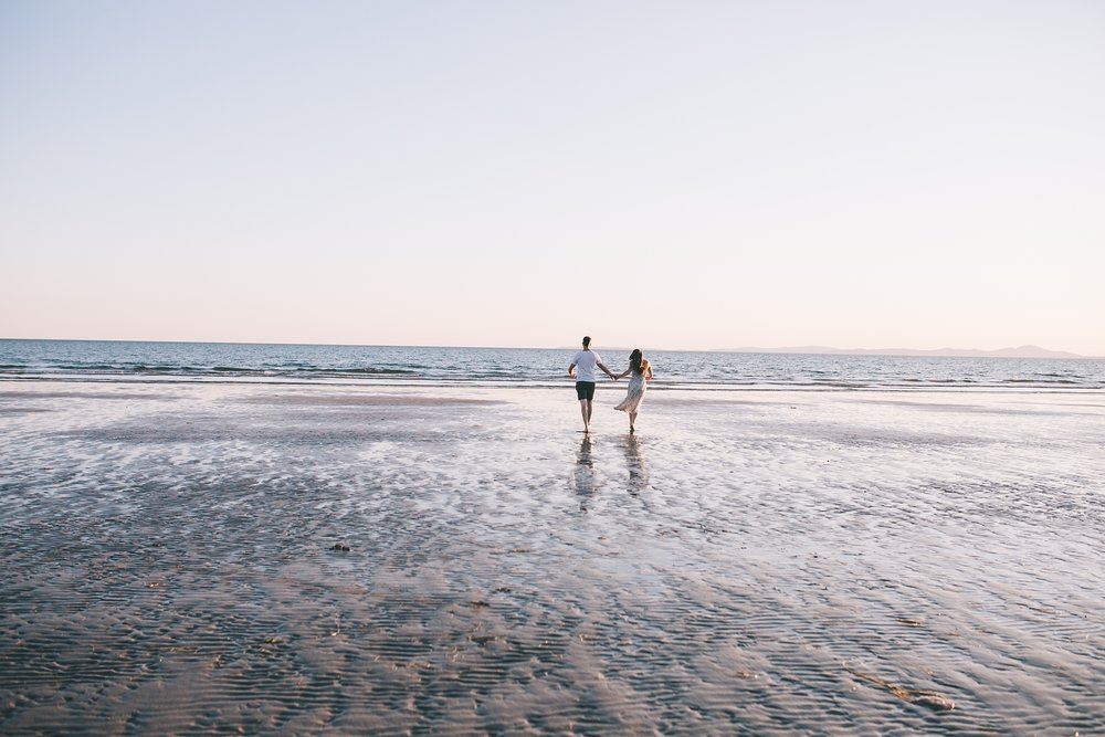 Beach engagement shoot UK