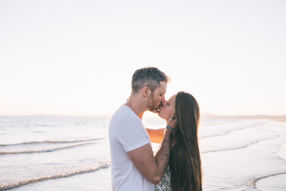Golden hour beach wedding photographer