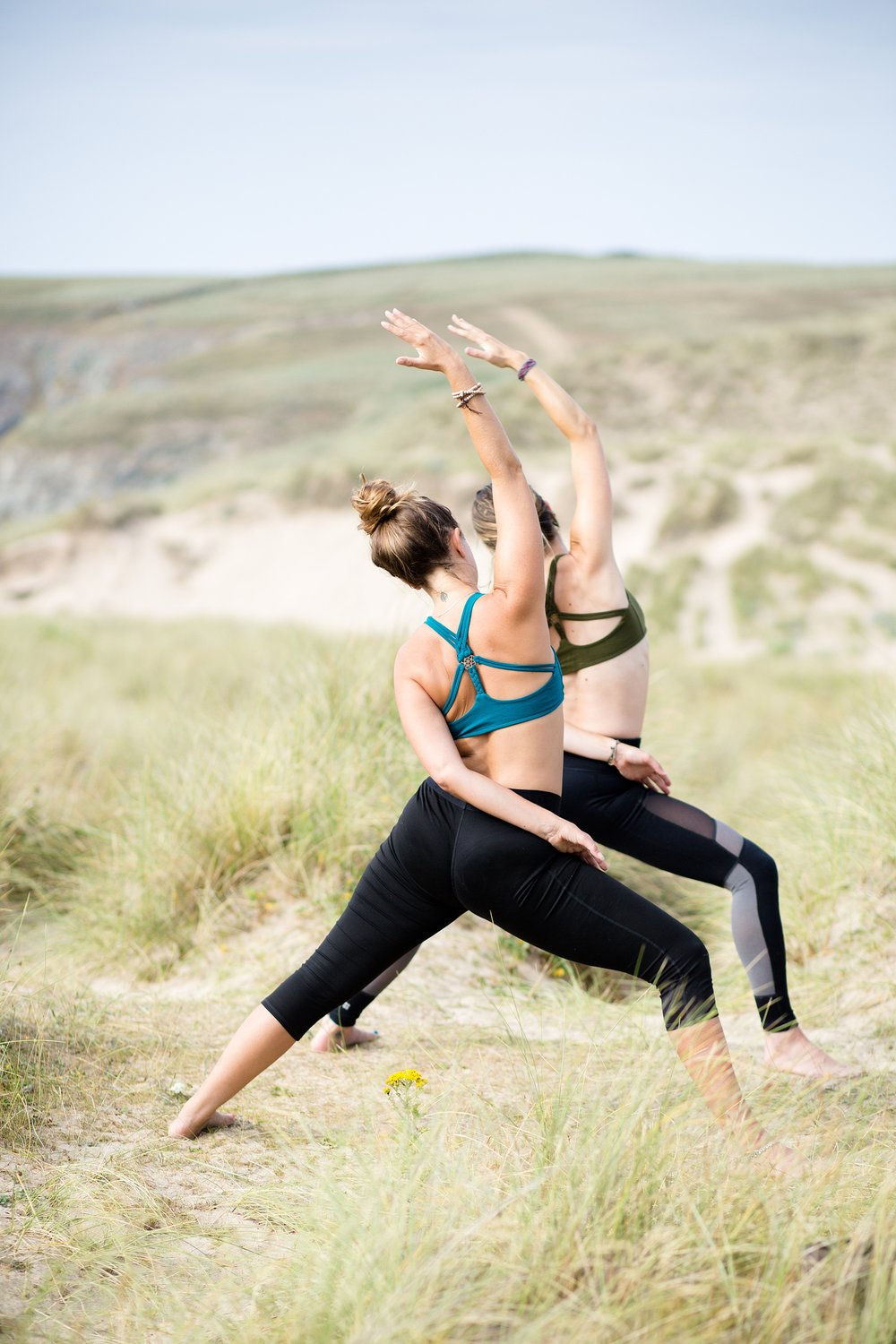 natural photography in cornwall yoga photographer biodegradable glitter by wild glitter