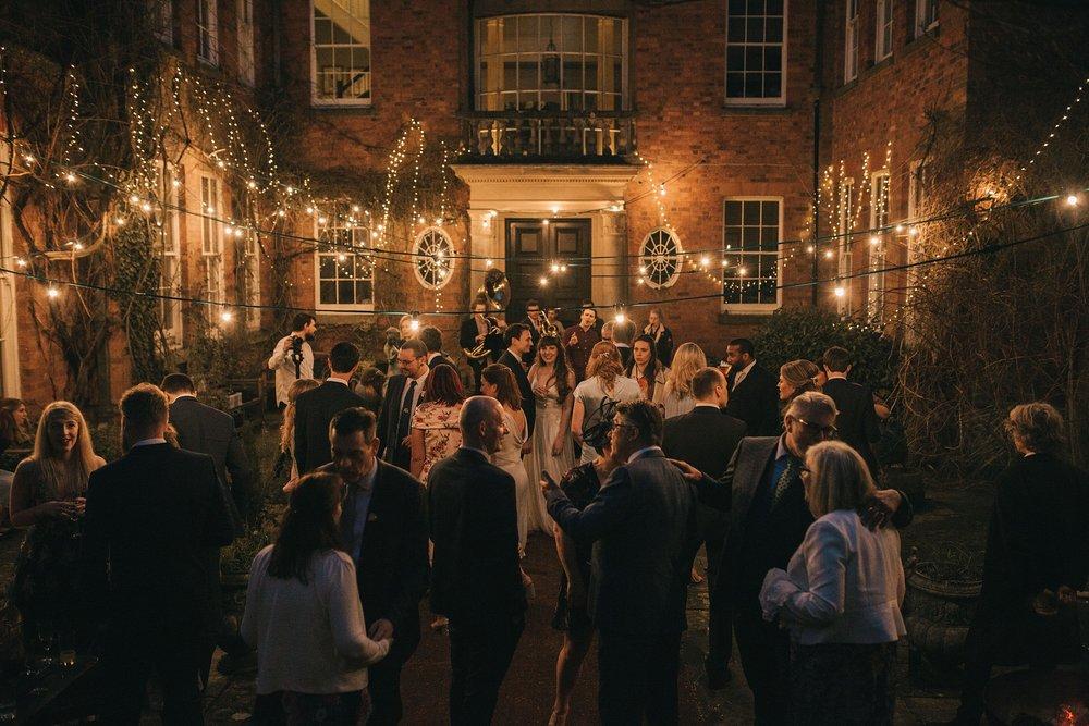 Walcot Hall wedding photography Courtyard