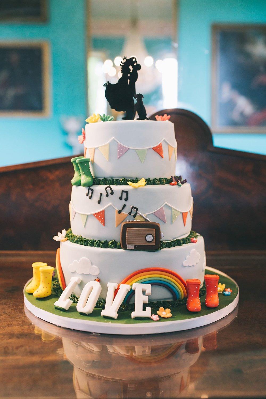 Festival wedding photography Cake