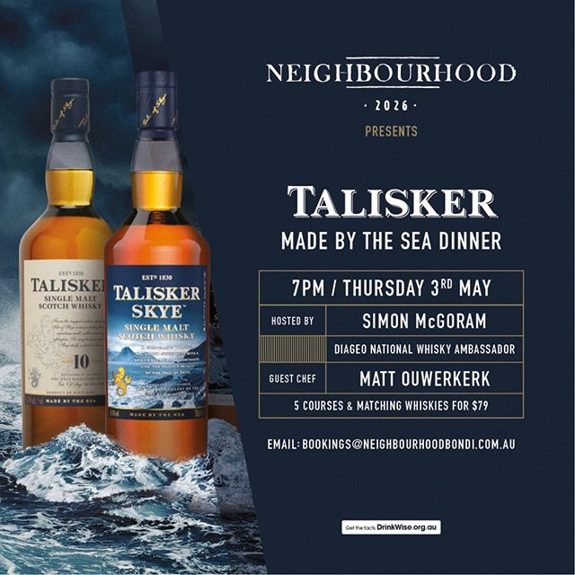 Join us on May 3rd for a 5 course dinner with whisky pairings, featuring Hood alumni Simon and Matt. It's bound to be a tasty and fascinating night! . Link in bio 👆🏼