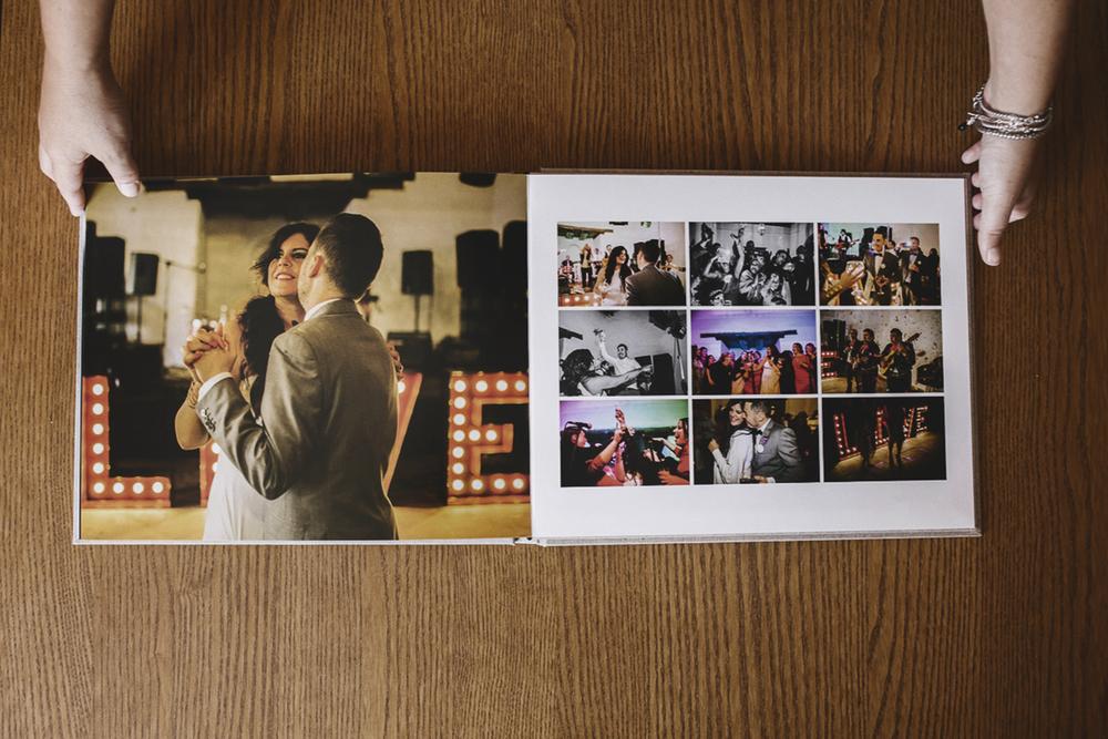 album de boda abierto lino