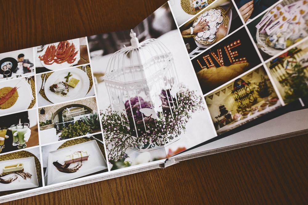album de boda con fotos de detalles