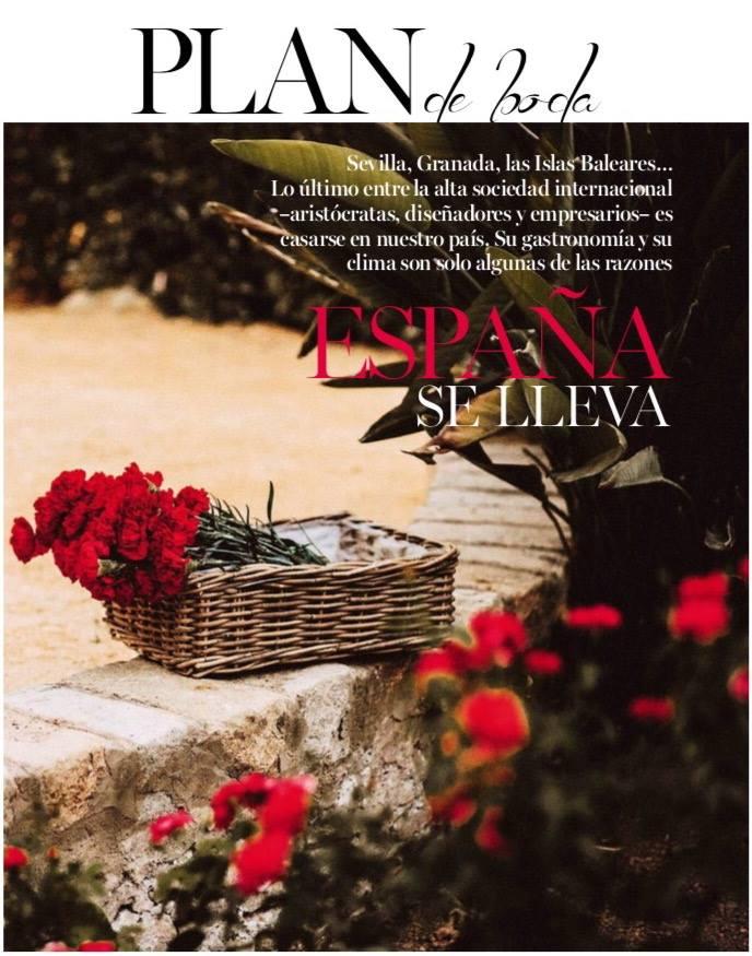 VOGUE Novias Artículo en revista Vogue Novias papel sobre bodas en España para extranjeros, con algunas de mis fotos.