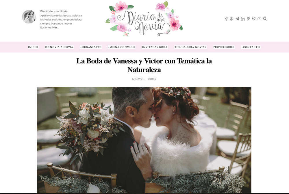 Diario de una Novia La natural wedding de Vanessa y Victor en este blog de referencia.