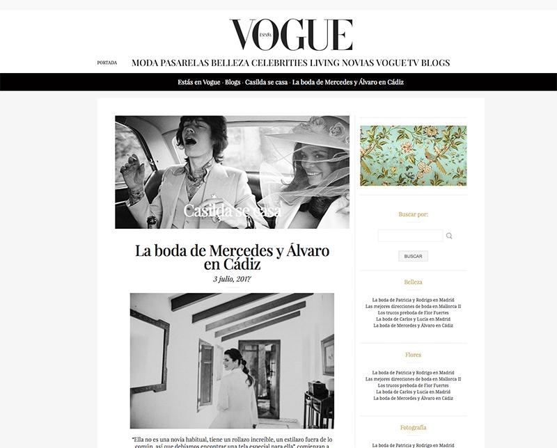 Casilda Se Casa   El blog de Vogue nos publica la boda de Mercedes y Álvaro con vestido de Cherubina