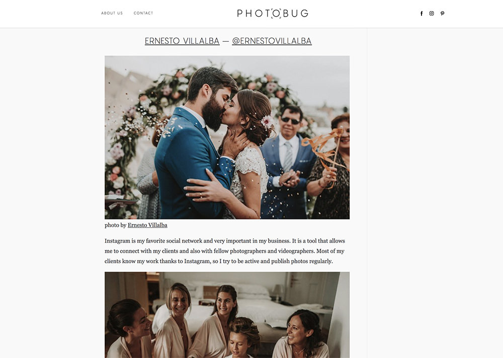 Photobug   Entrevista en el blog internacional Photobug sobre la red social Instagram.