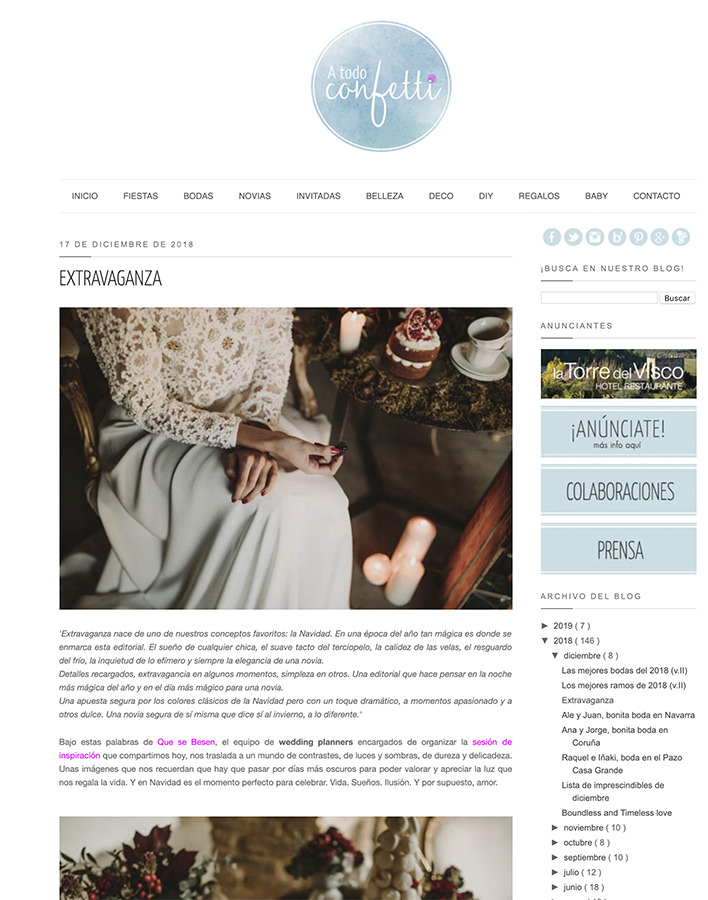 A Todo Confetti   Sesión editorial publicada en este blog de referencia.