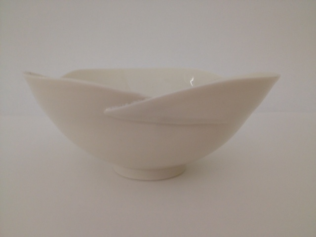 Pair of cut & folded bowls 11cm & 15cm  £65