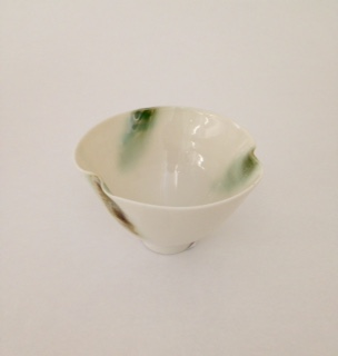 Bowl, Green Dash 10cm £25