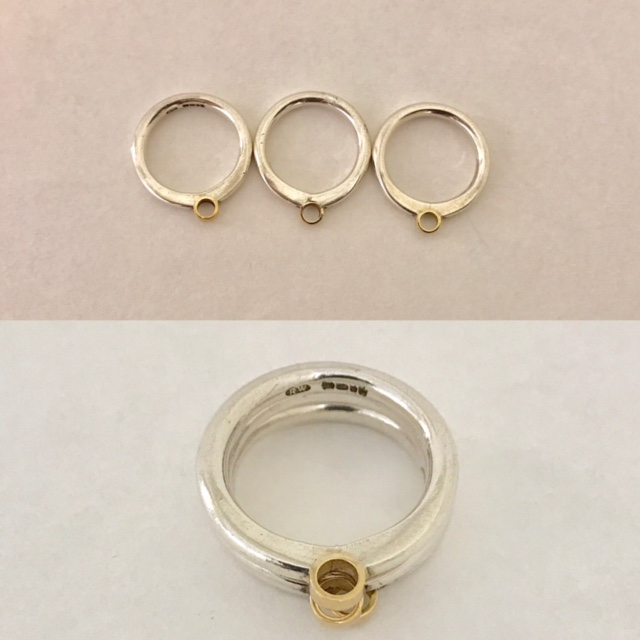 Three part ring £80