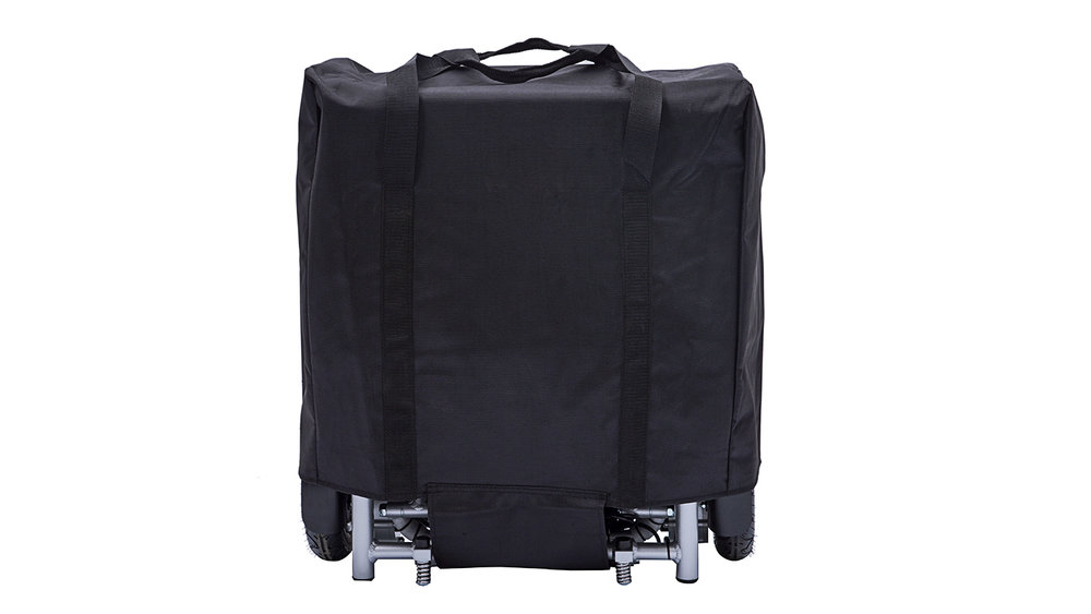 Your power chair comes with a wrap-around protective cover designed to help keep it looking its best when in transit.