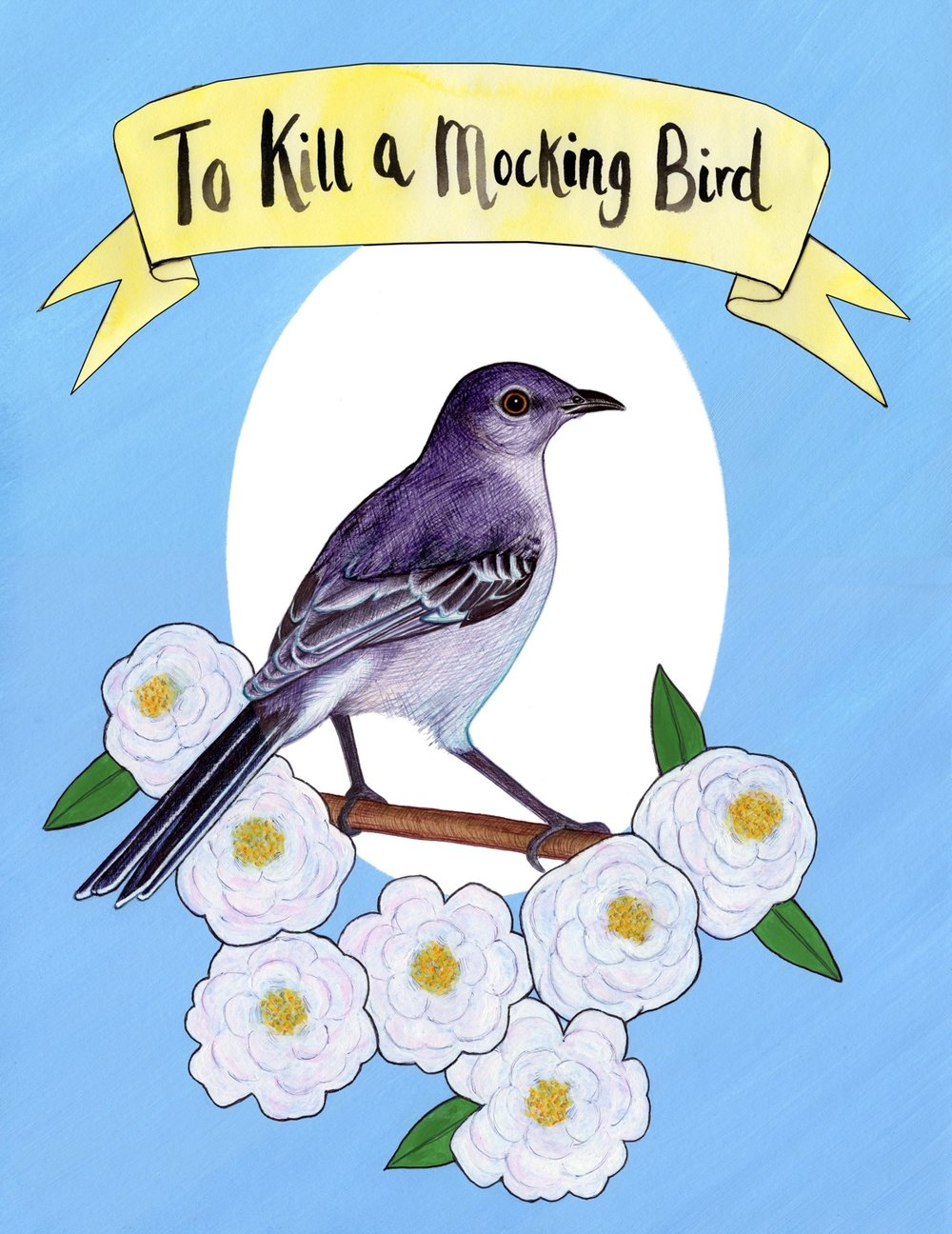 Illustration inspired by 'To Kill a Mocking Bird' by Harper Lee