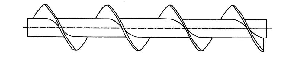 Transportskruv - Standardgänga  Högergänga, lämplig för hårda material, samt vid långa transportlängder.
