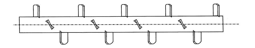 """Transportskruv - Paddelgänga  Lämplig för transport av """"valvbyggande"""" material, samt vid utmatning ur materialfickor"""